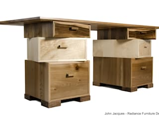 Magnetic Stack Desk with Fitted Humidor:   by Radiance Furniture Design