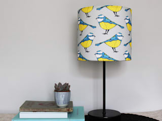 Bold Blue Tit Handmade Lampshades :   by martha and hepsie ltd