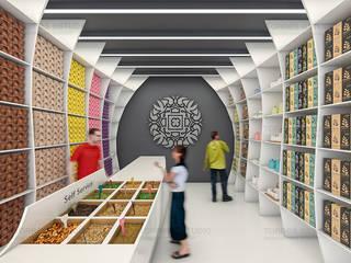 Tea Shop Oficinas y tiendas de estilo moderno de Torres Estudio Arquitectura Interior Moderno