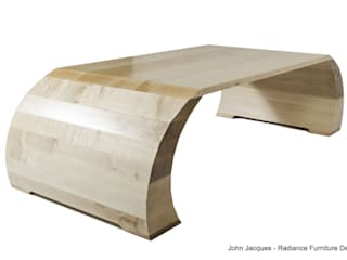 Strata Ripple Sycamore Coffee Table por Radiance Furniture Design Moderno