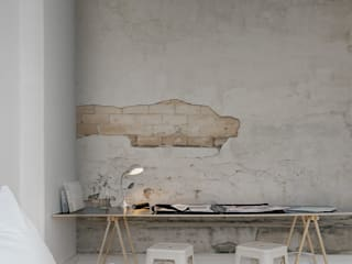 Cracks Wallpaper by Mister Smith Interiors:  Walls & flooring by Mister Smith Interiors