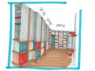 """Le projet """"Mondrian"""" Agence Sophie Auscher Salon moderne"""