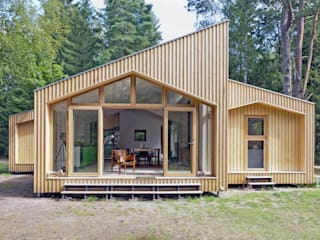 Home In The Woods de Facit Homes Moderno