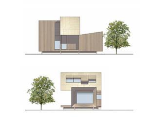 Prototype de maison bois: Maisons de style  par Atelier VVD
