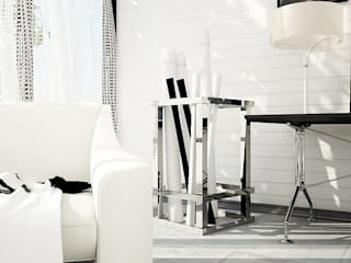 Interiors | Black and White Minimalist living room by DesigniTures Minimalist