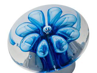 Bouton de porte Collection Bulles de fleurs disque par Les Verreries de Bréhat Moderne