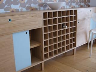 Oak Sideboard with Winerack:   by MijMoj Design Limited