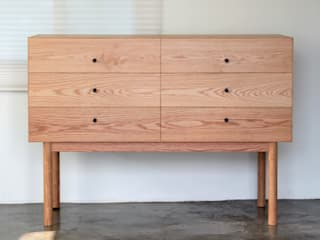 Cubic chest: The QUAD woodworks 의 현대 ,모던