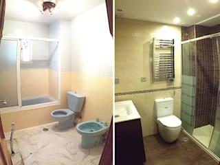 Reforma de baño Baños de estilo moderno de AtelierBas. Arquitectura y Construcción Moderno