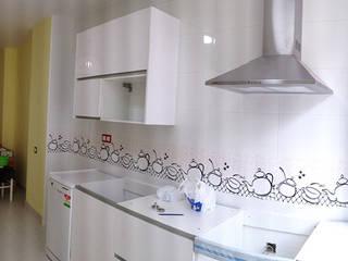 Cambio de uso de local comercial a vivienda Cocinas de estilo moderno de AtelierBas. Arquitectura y Construcción Moderno