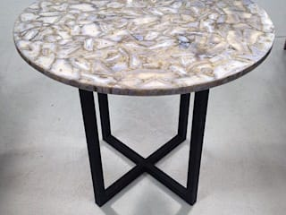 Blue Lace Agate Table: rustic  by Stonesmiths - Redefining Stone-Age,Rustic