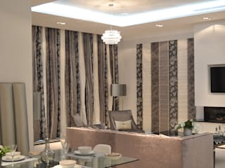 High End Curtain Projects Modern living room by International Soft Furnishers Modern