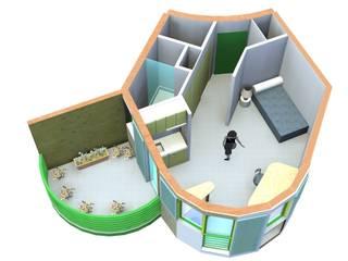 Studio et balcon: Chambre de style  par ARCHIC