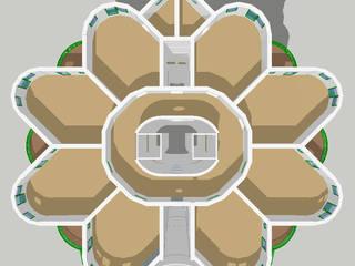 Plan d'un étage (avec patio central):  de style  par ARCHIC
