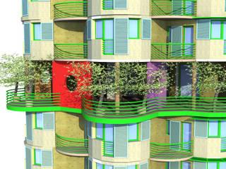 Terrasse jardin et salle commune: Terrasse de style  par ARCHIC