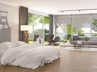 Singlehaus Moderne Wohnzimmer von planungsdetail.de GmbH Modern