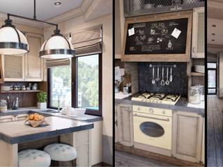 Проект в стиле RH: Кухни в . Автор – M-project,