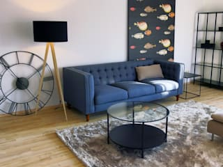 Apartment W1 Holzer & Friedrich GbR Industriale Wohnzimmer