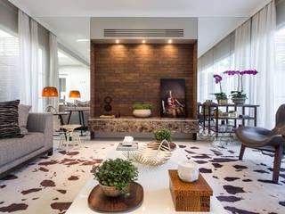 Modern Living Room by Vaiano e Rossetto Arquitetura e Interiores Modern