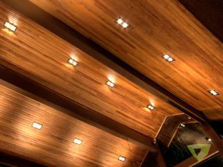 Casa de Campo Quinta do Lago - Tarauata: Salas de estar  por Olaa Arquitetos,Rústico