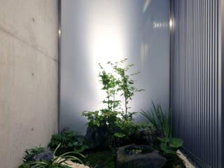 box house: 髙岡建築研究室が手掛けた庭です。,モダン
