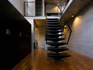 box house: 髙岡建築研究室が手掛けた廊下 & 玄関です。,モダン