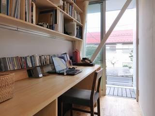 Modern study/office by 岡村泰之建築設計事務所 Modern