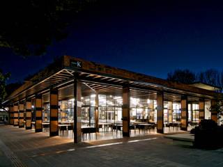 Fachada Nor-Oriente:  Dining room by Forma Taller