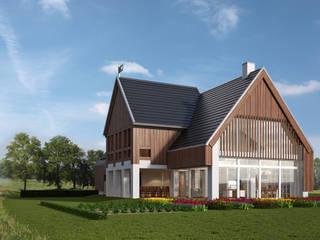 LK&1196: styl , w kategorii Domy zaprojektowany przez LK & Projekt Sp. z o.o.,