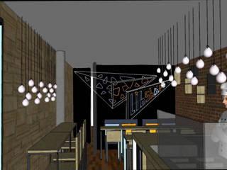 Le Libshop - Aménagement, mobilier et fresque: Restaurants de style  par Est Ouest Architecte