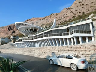 Casas de estilo tropical de Архитектурное бюро и дизайн студия 'Линия 8' Tropical