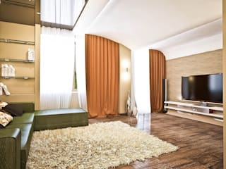 Яркие акценты современных квартир: Гостиная в . Автор – STONE design, Минимализм