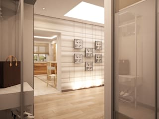 Простота и функциональность современного жилья: Коридор и прихожая в . Автор – STONE design, Минимализм
