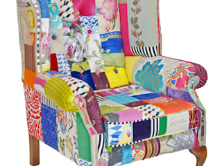 Made to Order 'Mad Hatter' wing chair:   by Kelly Swallow
