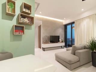 Salas de estar  por Eightytwo Pte Ltd , Minimalista