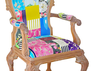 'Ready to Go' patchwork chairs available for sale at http://www.kellyswallow.com/products/:   by Kelly Swallow