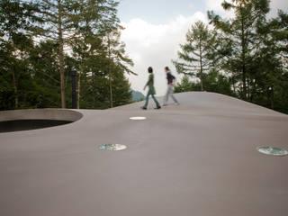 曲面屋根の散歩: PODAが手掛けたルーフバルコニーです。