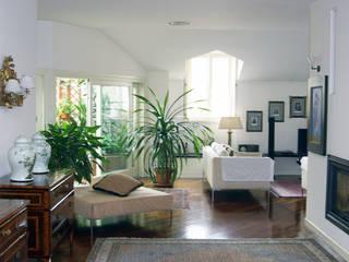 Abitazione privata e S.P.A. a Milano Soggiorno moderno di Studio di Architettura Parodo Moderno