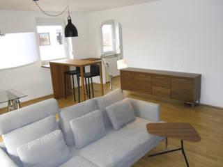 modern wohnen mit einem Hauch von Skandinavien: skandinavische Wohnzimmer von Innenarchitektur-Moll