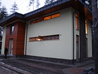 Модерн под Райта в Белоострове: Дома в . Автор – АРХ студия Антона Никитина, Модерн