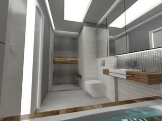 Nowoczesne Mieszkanie: styl , w kategorii Łazienka zaprojektowany przez WW Studio Architektoniczne
