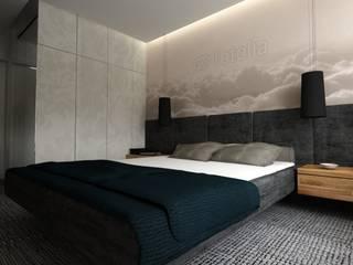 Nowoczesne Mieszkanie Skandynawska sypialnia od WW Studio Architektoniczne Skandynawski
