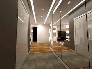 Nowoczesne Mieszkanie Skandynawski korytarz, przedpokój i schody od WW Studio Architektoniczne Skandynawski