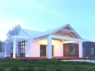 Nowoczesny Dom Parterowy: styl , w kategorii  zaprojektowany przez WW Studio Architektoniczne