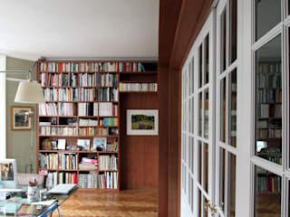 Wraparound Library & French Doors, Hampstead Tendeter Minimalist study/office