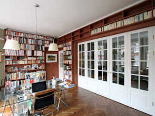 Wraparound Library & French Doors, Hampstead Minimalist study/office by Tendeter Minimalist