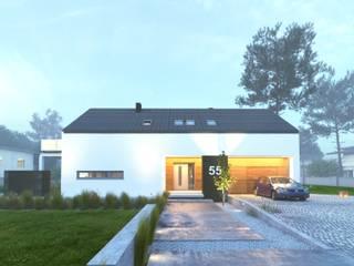 Prosty Dom Energooszczędny Minimalistyczne domy od WW Studio Architektoniczne Minimalistyczny