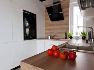 mieszkanie w Olsztynie Skandynawska kuchnia od ap. studio architektoniczne Aurelia Palczewska Skandynawski