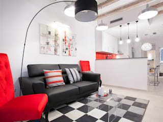 - Salones de estilo moderno de Amplix Group Moderno