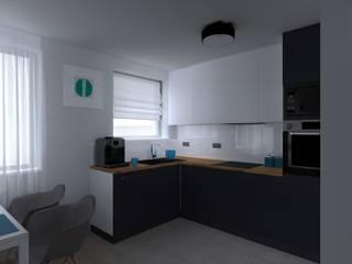 mieszkanie w Kwidzynie Skandynawska kuchnia od ap. studio architektoniczne Aurelia Palczewska Skandynawski